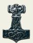 Trinkhorn 0,2 l mit Thorshammer aus Zinn Bild 2