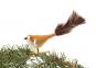 Vogel weiß gold mit braunen Federn Bild 2