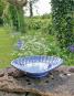 Vogelbadewanne in Muschelform, blau. Bild 2