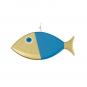 Wanddeko-Fisch aus Bronze, blau, Gr. L. Bild 2