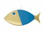Wanddeko-Fisch aus Bronze, blau, Gr. XL. Bild 2