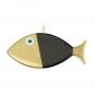 Wanddeko-Fisch aus Bronze, schwarz, Gr. L. Bild 2