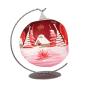 Weihnachtskugel für Teelicht, rot. Bild 2