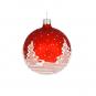 Weihnachtskugel »Tannenbäume«, rot. Bild 2