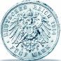 3er-Silbersatz Kaiser Wilhelm II. - 2, 3 und 5 Reichsmark Kaiser Wilhelm II. Bild 3