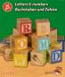 Buchstaben, Zahlen und Motive. Kleine Holzwürfel zum Spielen und Lernen. Bild 3