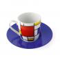 Espressotasse »Piet Mondrian«, blau. Bild 3