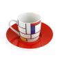 Espressotasse »Piet Mondrian«, rot. Bild 3