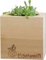 Holzwürfel mit Edelweiß-Samen. Bild 3