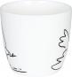 Kaffeebecher »Friedenstaube«, schwarz/weiß. Bild 3