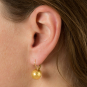 Ohrringe aus Murano Perle, gold. Bild 3
