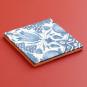 Replik Delfter Fliese »Eine Tulpe«, blau/weiß. Bild 3