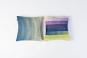 Røros Tweed Kissen »Åsmund Gradient lila/gelb«. Bild 3