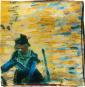 Seidentuch Vincent van Gogh »Der rote Weinberg«. Bild 3