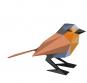 Tier aus Papier. Drei Vögel. Bastel-Set. Bild 3