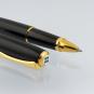Tintenroller »Excellence A«. Lackschwarz vergoldet. Bild 3