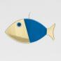 Wanddeko-Fisch aus Bronze, blau, Gr. XL. Bild 3