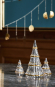 Weihnachtsbaum aus Glas, mittelgroß. Bild 3