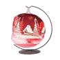 Weihnachtskugel für Teelicht, rot. Bild 3