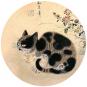 Briefbeschwerer Byeon »Katze in einem Garten«. Bild 4