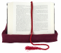 Buch-Kissen, rot. Bild 4