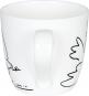 Kaffeebecher »Friedenstaube«, schwarz/weiß. Bild 4