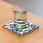 Replik Delfter Fliese »Eine Tulpe«, blau/weiß. Bild 4