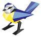 Tier aus Papier. Drei Vögel. Bastel-Set. Bild 4