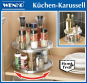 Küchen-Karussell aus Edelstahl, 2 Ebenen. Bild 5