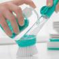 Reinigungsbürste mit Griff und Seifenspender. Bild 5