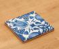 Replik Delfter Fliese »Eine Tulpe«, blau/weiß. Bild 5