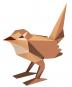 Tier aus Papier. Drei Vögel. Bastel-Set. Bild 5