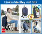 Einkaufstrolley mit Sitz. Bild 7