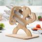 Messer-Set mit Holzhalterung. Bild 7